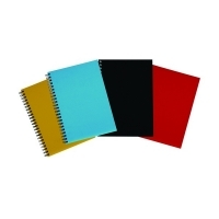 Spirax Notebook 512 Hardcover A4 200page PK4 Assorted