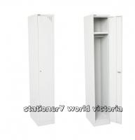 GO Steel Locker 1 Door (H)1830x(W)305x(D)455mm White