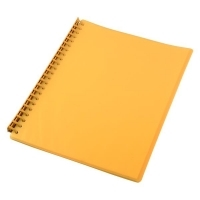 STAT Display Book A4 20 pocket PP Refillable PK10 Yellow