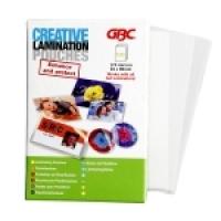 GBC CREATIVE LAMINATING POUCH 64x99 175mic BX100 BL175M64X99