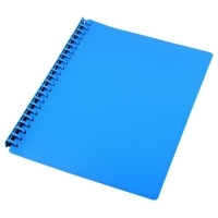 STAT Display Book A4 20 pocket PP Refillable PK10 Light Blue