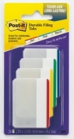 Post It Durable Tabs Flat 686F-1 24pack