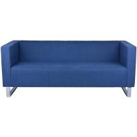 RAPIDLINE ENTERPRISE RECEPTION CHAIR 3 Seater Lounge Blue Fabric
