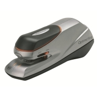 REXEL OPTIMA GRIP ELECTRIC STAPLER 20Sht Cap Orange/Silver