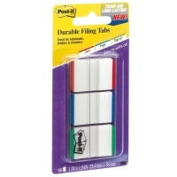 Post It Durable Flat Indexing & Folder Tabs 686L-GBR 3pack