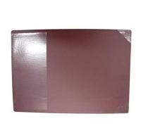 Bantex Desk Pad (+clear flap) Burgundy 45x59cm 4190-59