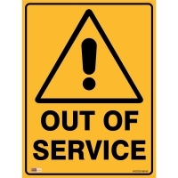SAFETY SIGN - Out Of Service 450mmx600mm Metal