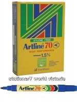 Artline 70 Marker Permanent Medium Bullet Blue BX12