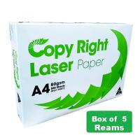 Copy Right Laser A4 White 80gsm Copy Paper A(1Box-5reams)