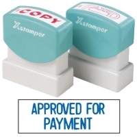XSTAMPER STAMP - Approved For Payment (Blue) 1025 (5010250)