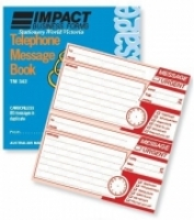 Telephone Message Book Carbonless Impact TM342