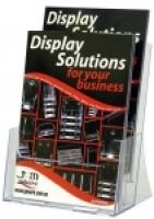 Deflecto Brochure Holder A4 2Tier 31322