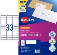 Avery Inkjet Label J8157 PK25 33/sheet