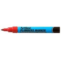 ARTLINE PLUMBERS PERMANENT MARKER RED