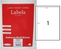 Rediform Labels Multipurpose A4 BX100 A4/1C (1/sh) 210x295