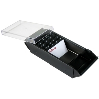 Esselte Elements Business Card Box Metal 600card Black