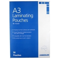 Cumberland Laminating Pouch A3 80mic BX50