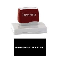 iSTAMP Pre-Inked Laser Stamp iS66 80x60mm