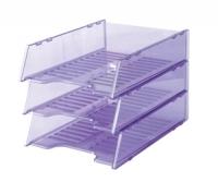 Document Tray Italplast Stackable i60 (Tinted) Purple