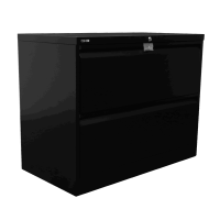 Go Lateral Filing Cabinet 2 Drawer Black