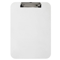Marbig Professional Solid Plastic Clipboard A4 Clear