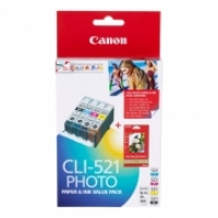 Canon Ink Cartridge CLI521VP Value Pack 1xCLI521C/M/Y/BK+PP201