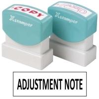 XSTAMPER STAMP - Adjustment Note (Black) 1192