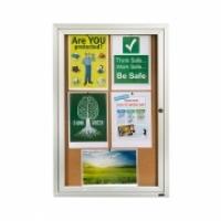 Quartet Enclosed Cork Bulletin Board QT2363 600x900mm