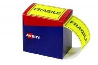 Avery Dispenser Label 75x99.6mm PK750 Printed FRAGILE