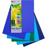 Quill Board A4 210gsm 90376 Pack 50 - Cold Assorted