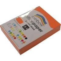Rainbow Colour Copy Paper A4 80gsm Orange (ream-500sheets)
