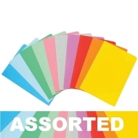 Marbig Manilla Folders Coloured Fcap BX100 Assorted Colours