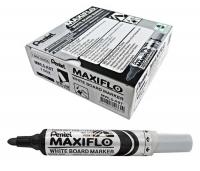 Pentel Maxiflo Whiteboard Marker MWL5A Black BX12