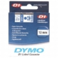 Dymo Labelling Tape D1 12mm x 7M 45011 Blue on Clear