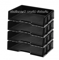Esselte A3 Document Tray Stackable 48642 Black BX4