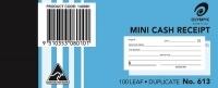 Cash Receipt Book Duplicate 125x50 100LF Olympic 613 PK20