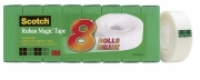 3M Scotch 810 Magic Invisible Tape 19mm x 25M Refill PK8
