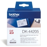 Brother DK44205 White Removable Paper Roll 62mm x 30.48Mt