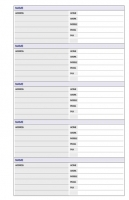 Dayplanner Refills KT3002 120x81 Pocket Telephone/Address