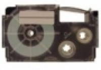 Casio Label Tape XR6X 6mm Black/Clear