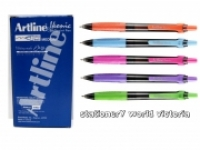 Artline IKONIC Ball Point Grip Pen 1.0 Brights BX12