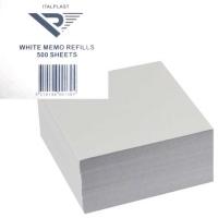 Memo Cube Holder Refill-Blank White Italplast i130RF