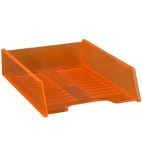 Document Tray Italplast Stackable i60 (Tinted) Orange