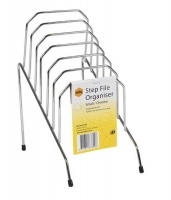 Step File Organiser Chrome Marbig 87300 Small