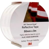 3M 983-10 REFLECTIVE TAPE Diamond 50mm x 3M White