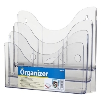 Deflecto Document Organiser 3Tier Clear 390201