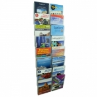 Esselte Cliplock Wall System Brochure Holder 16 x A4 Pockets