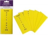 Crystalfile Suspension File Tab Inserts PK60 A-Z Yellow 111544C