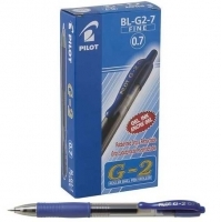 Pilot Retractable Pens BL-G2-7 Fine Blue 622510 BX12