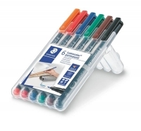 Staedtler 318 Lumocolor Pens Fine 318WP6 WLT6